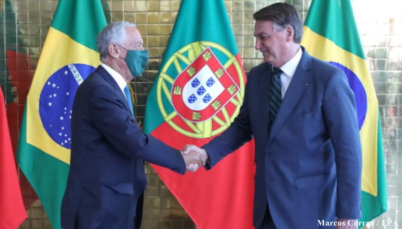 Marcelo Rebelo de Sousa e Jair Bolsonaro
